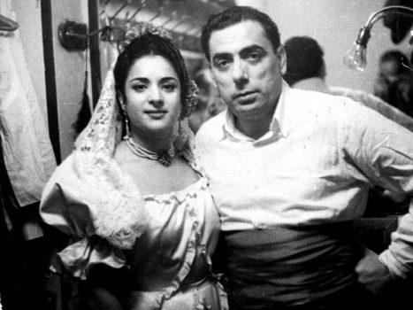 Lola Flores con Manolo Caracol.