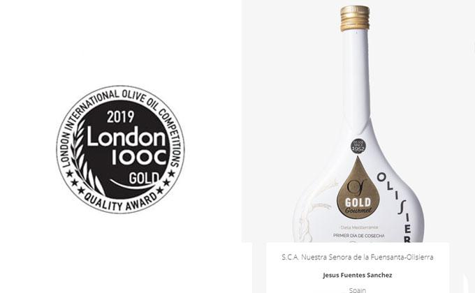 Olisierra Gourmet premiado en Londres.