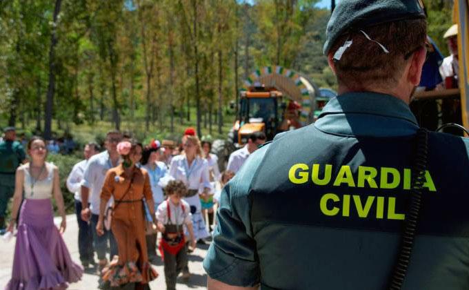 Guardia Civil en el Cerro del Cabezo.
