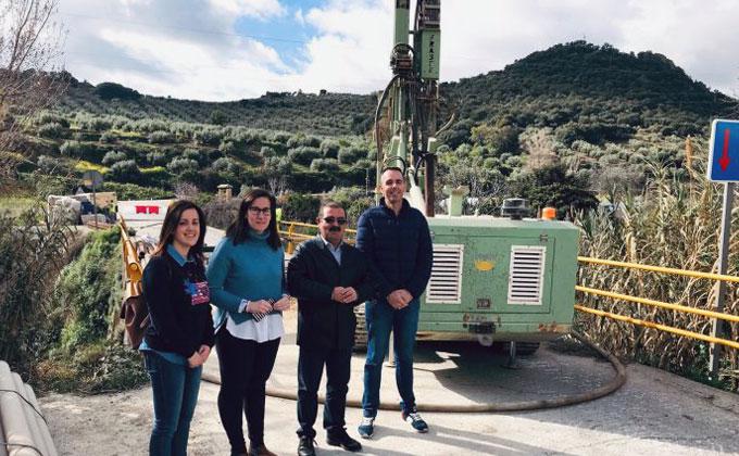 Visita de las obras de la carretera JA-3302 Fuensanta.